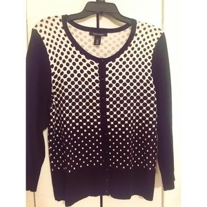 WHITE HOUSE BLACK MARKET SWEATER CARDIGAN / SZ: L